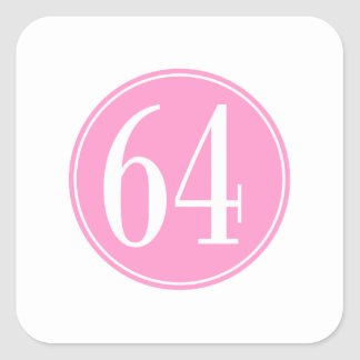 #64 Pink Circle Square Sticker