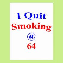 64 Quit Smoking Postcard
