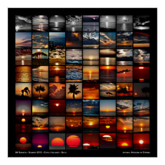 64 Sunsets Poster