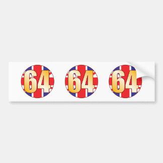 64 UK Gold Bumper Sticker