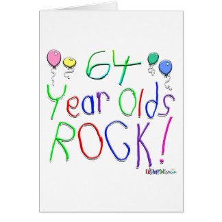 64 Year Olds Rock! Greeting Card