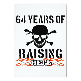 64 years of raising hell card