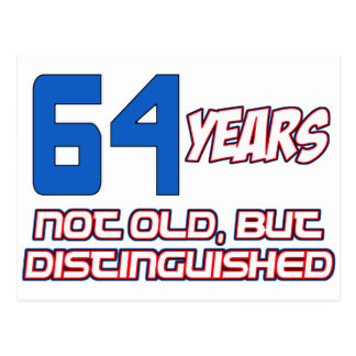 64 YEARS OLD BIRTHDAY DESIGNS POSTCARD
