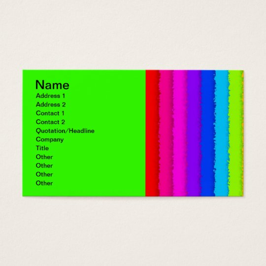 64B RAINBOW STRIPES COLORFUL NEON GRAPHICS BACKGRO BUSINESS CARD