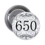 650 Area Code 2 Inch Round Button