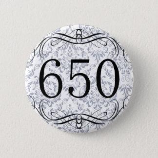 650 Area Code Pinback Button