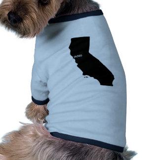 650 Area Code Tshirt, Bay Area, California Doggie Tee Shirt