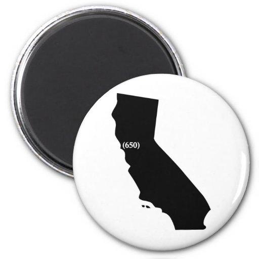 650 area code tshirt bay area california fridge magnets for Bay area custom shirts