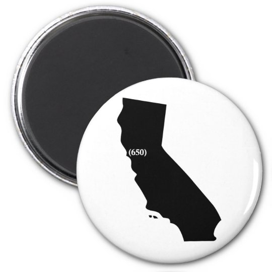 650 Area Code Tshirt, Bay Area, California Magnet