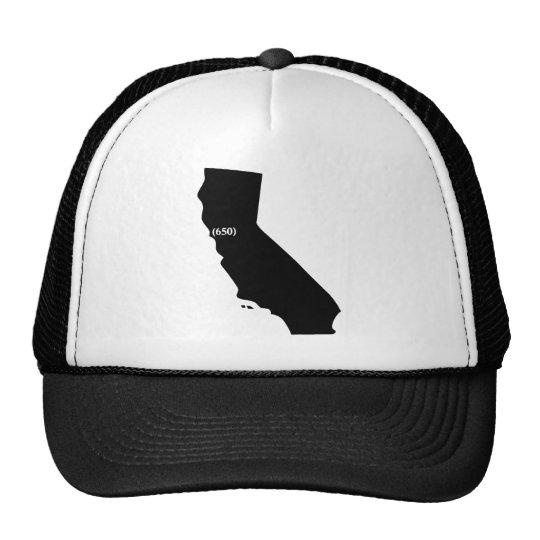 650 Area Code Tshirt, Bay Area, California Trucker Hat
