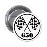 650 Checkered Flags 2 Inch Round Button