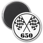 650 Checkered Flags 2 Inch Round Magnet