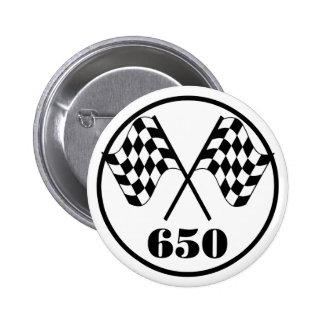 650 Checkered Flags Button