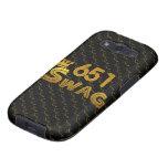 651 Area Code Swag Galaxy SIII Cases