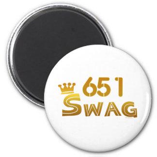 651 Minnesota Swag 2 Inch Round Magnet