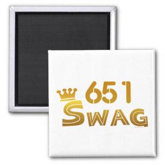 651 Minnesota Swag 2 Inch Square Magnet