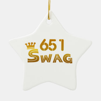 651 Minnesota Swag Ceramic Ornament