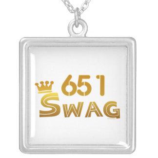 651 Minnesota Swag Square Pendant Necklace