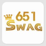 651 Minnesota Swag Square Sticker