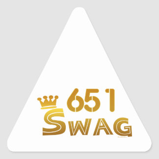 651 Minnesota Swag Triangle Sticker