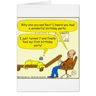 655 first birthday party cartoon card