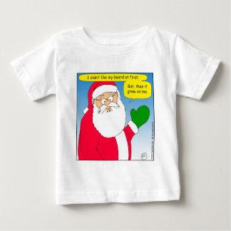657 santa beard grew on me cartoon baby T-Shirt