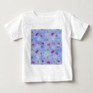 658485 CUTE LADYBUG BUTTERFLY PASTELS PATTERN WALL BABY T-Shirt