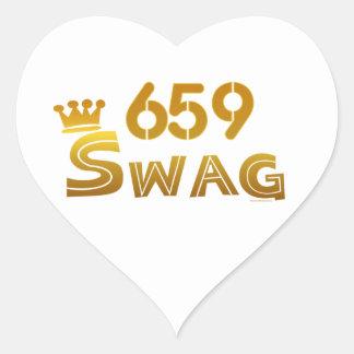 659 Alabama Swag Heart Sticker