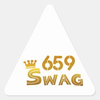 659 Alabama Swag Triangle Sticker