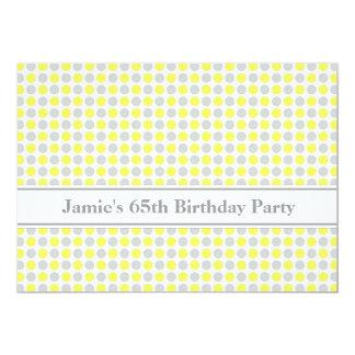 65.a invitación de la fiesta de cumpleaños de los invitación 12,7 x 17,8 cm