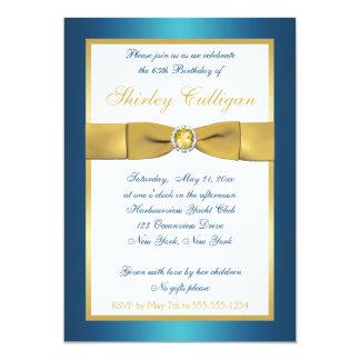 65.a invitación del cumpleaños del trullo y del invitación 12,7 x 17,8 cm