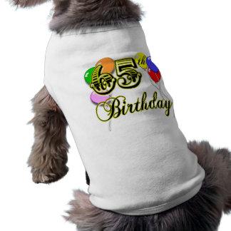 65.a mercancía feliz del cumpleaños playera sin mangas para perro