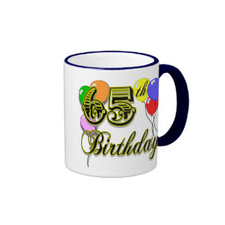65.a mercancía feliz del cumpleaños taza a dos colores