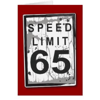65.a tarjeta divertida del límite de velocidad del