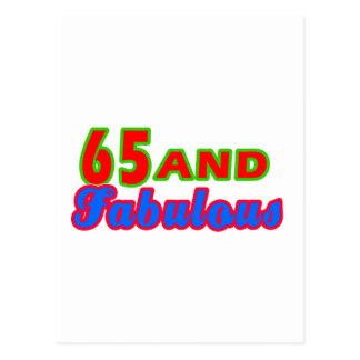 65 and Fabulous Birthday Designs Postcard
