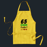 """65 And Still Cookin Adult Apron<br><div class=""""desc"""">65th birthday for women chef cooking gift</div>"""