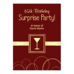 65.as invitaciones del fiesta de sorpresa del anuncios personalizados