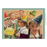 65.as memorias retras 1949 de la niñez del cumplea tarjetón