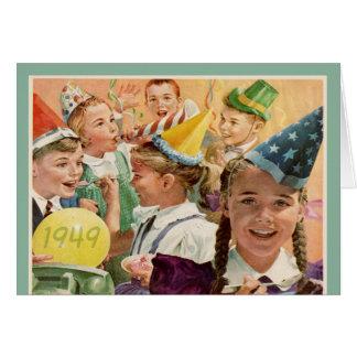 65 as memorias retras 1949 de la niñez del cumplea tarjetón