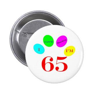 65 Balloons Pinback Button