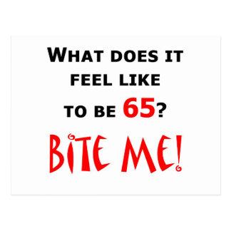 65 Bite Me! Postcard
