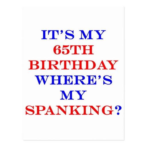 ¿65 donde está mi azote? tarjeta postal