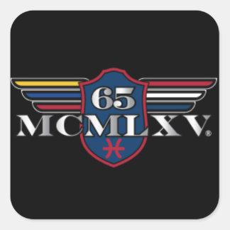 """65 MCMLXV Large Square Sticker: 3""""x3""""(6 per sheet) Square Sticker"""
