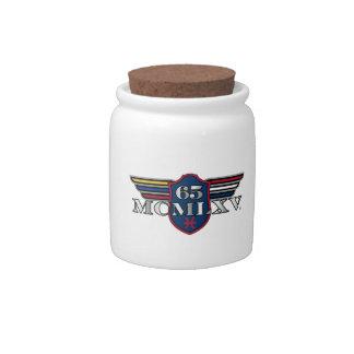 65 MCMLXV Porcelain Candy Jar Candy Dish