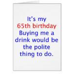 65 me compran una bebida felicitaciones