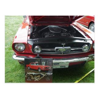 '65 Mustang Engine Postcard