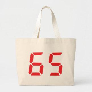 65 número digital del despertador de sesenta y cin bolsa