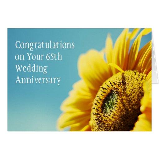 65.o Aniversario de boda/o cualquier tarjeta del