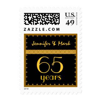 65.o Aniversario del año - negro y sello del cordó