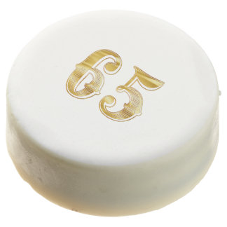 65.o Aniversario galleta del blanco del oro de 65